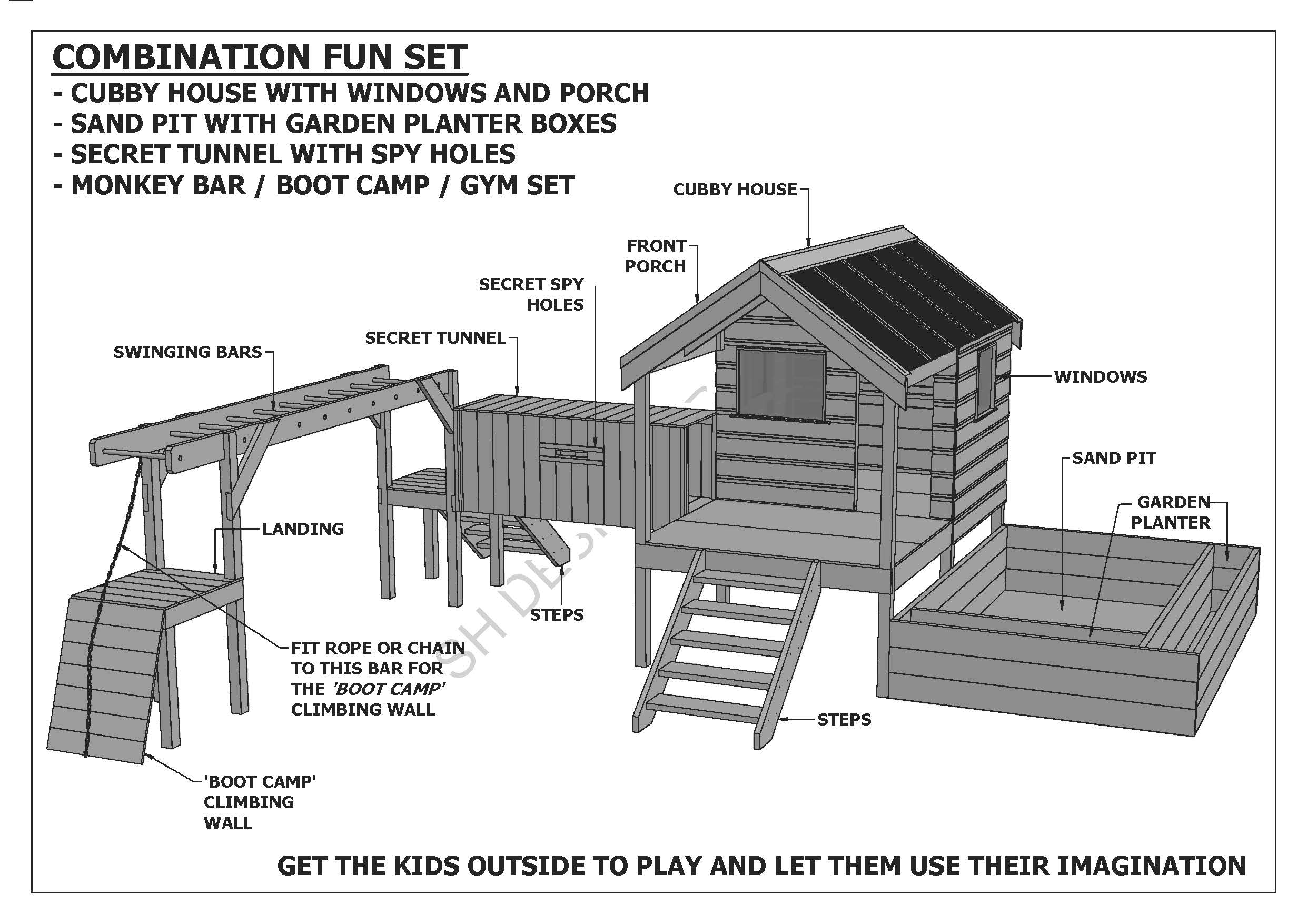 COMBO TUNNEL Building Plans V1 PLAY GYM CUBBY PLAY HOUSE ... on house with two kitchens, house with an office, house with game room, house with steam room, house with an elevator, house with 2 pools, house with party room, house with dance studio, house with pool tables, house with shops, house with table tennis, house with beauty salon, house with indoor pool, house with tennis courts, house with swimming pool, house with solarium, house with weight room,